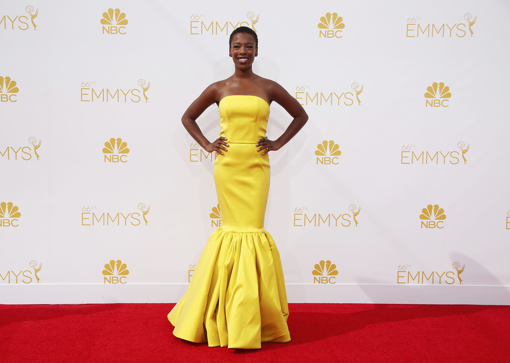 Samira Wiley arrives at the 66th Primetime Emmy Awards in Los Angeles