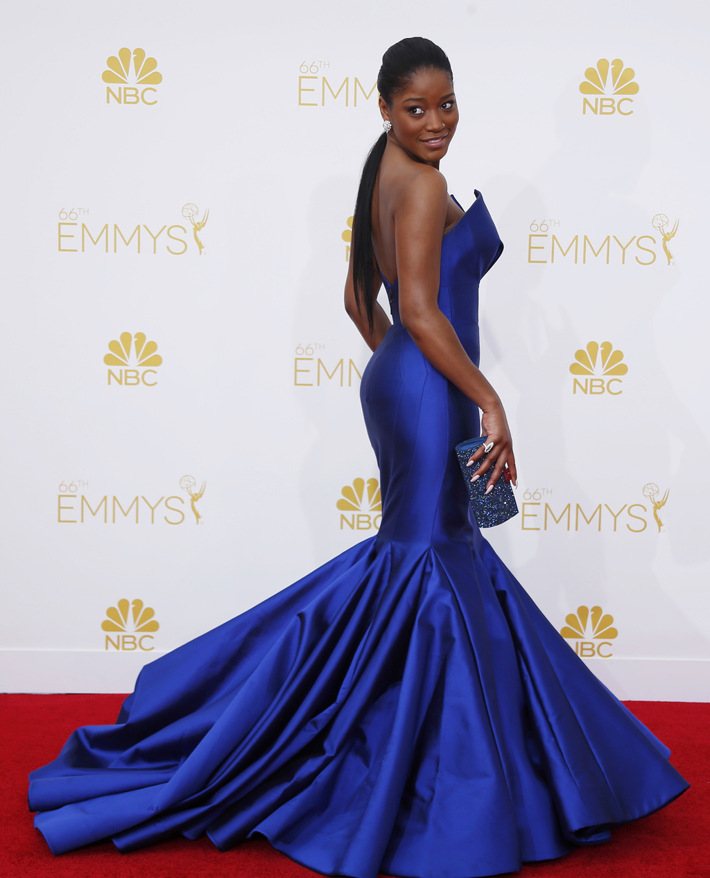 Keke Palmer arrives at the 66th Primetime Emmy Awards in Los Angeles