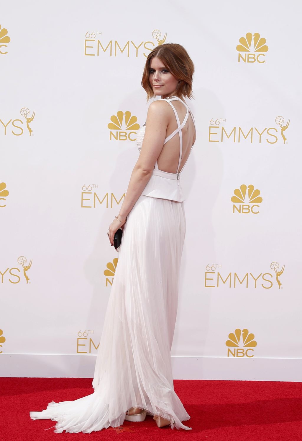 "Kate Mara from the Netflix series ""House of Cards"" arrives at the 66th Primetime Emmy Awards in Los Angeles"