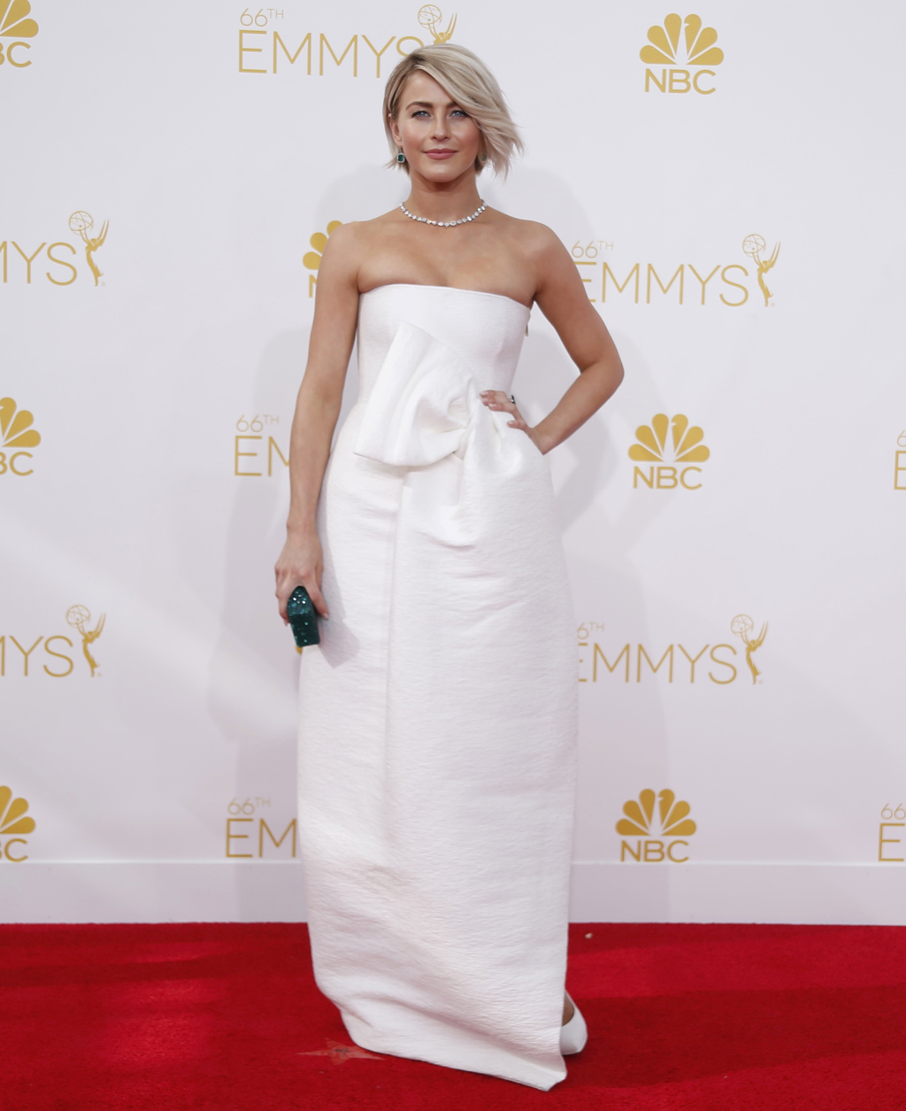 Julianne Hough arrives at the 66th Primetime Emmy Awards in Los Angeles