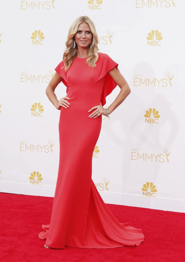 Heidi Klum arrives at the 66th Primetime Emmy Awards in Los Angeles