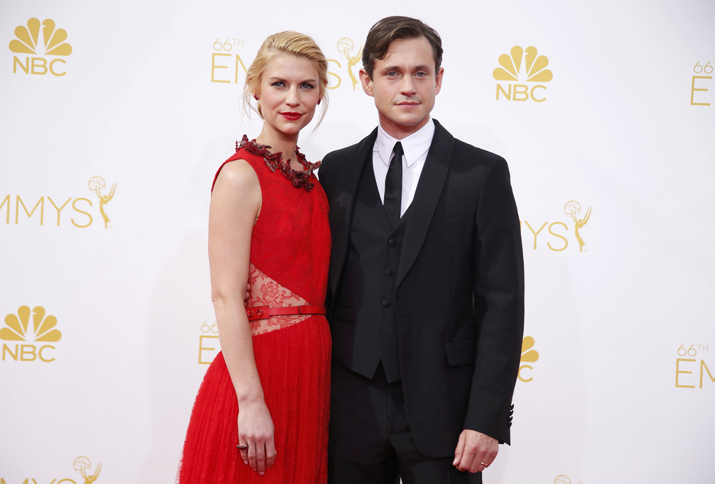 Claire Danes and Hugh Dancy arrive at the 66th Primetime Emmy Awards in Los Angeles